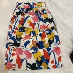 High waisted floral skirt jcrew 0 petite